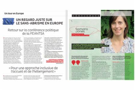 News: Fédération des Acteurs da la Solidarité interview FEANTSA Policy Officer in their magazine