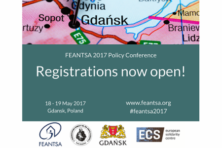 News: Registrations for FEANTSA Policy Conference now open