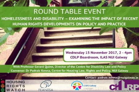 News: FEANTSA Working Group on Housing Rights Co-organises Round Table Event on Homelessness and Disability