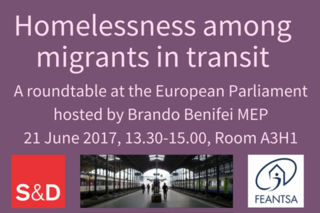Homelessness among migrants in transit - A roundtable at the European Parliament